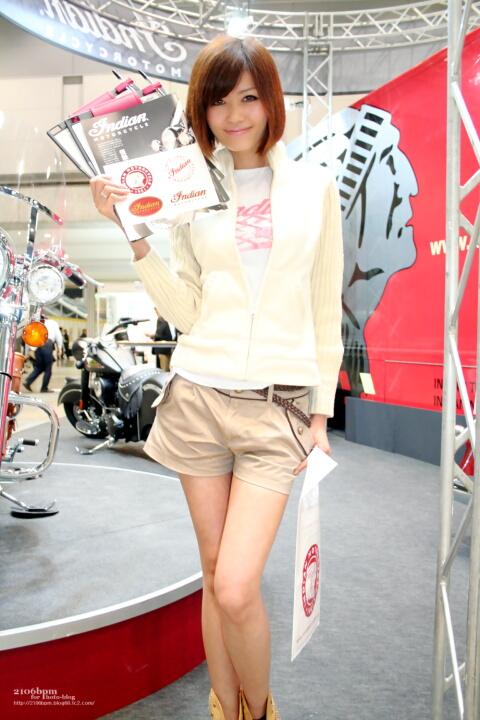 大塚れいか / INDIAN MOTOR CYCLE -TOKYO MOTOR CYCLE SHOW 2012-