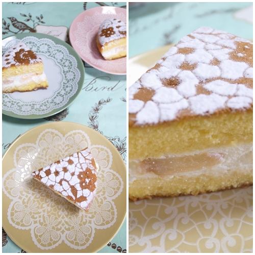 桃のショートケーキ余り