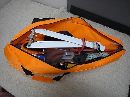 アラインのキャリーバッグ04 こんな感じで積み込めます