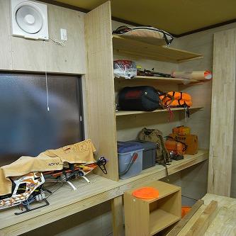 機械搬入21 工作室の棚