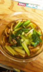 小松菜としめじと塩豆のお浸し