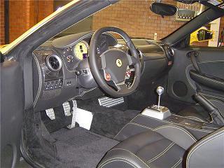 フェラーリ F430 運転席
