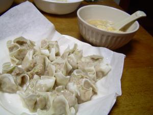シュウマイと卵スープ