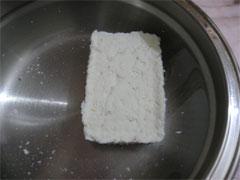 初めて豆腐を作った