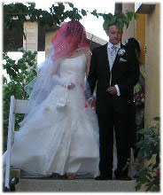 とっても美しい花嫁と花婿