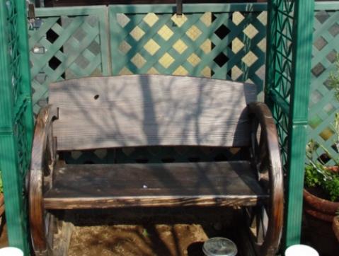03年から07年2月まで使っていたベンチ