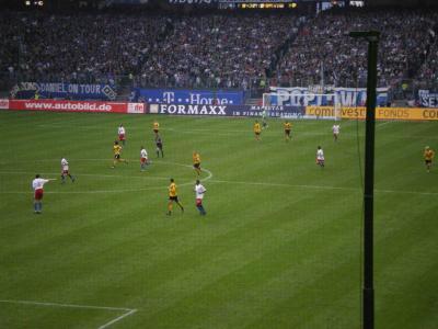 ハンブルグでのサッカー観戦
