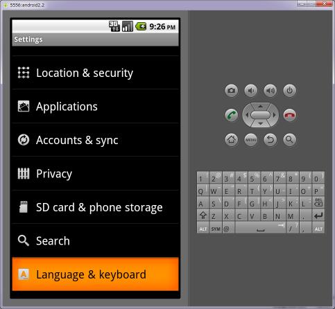Android エミュレーター2.2 03