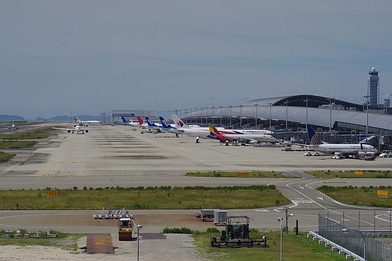 各国の航空機みんな整列
