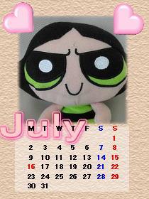 きなこカレンダー7月\