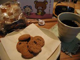 リラックマとクッキーとコーヒー。