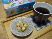 プリンコロンとコーヒー