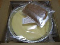 パパジョンズのNYチーズケーキ。ボックスの中はこんなの。