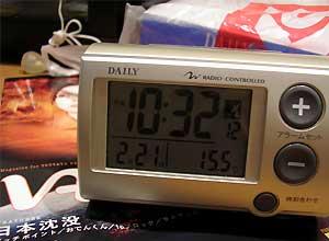 卓上型の電波時計