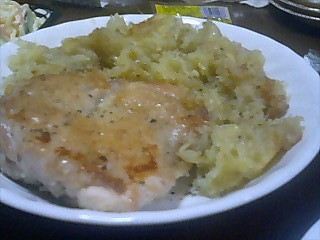 鶏ジャガイモ炒め