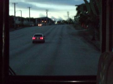 夕方のバスで