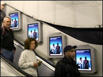LONDON TUBE AD DISPLAY