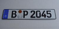 ドイツのナンバープレート(Bはベルリン)