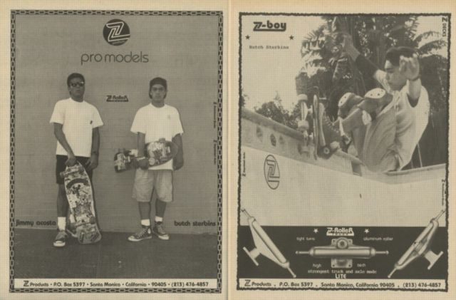 z-products-pro-models butch sterbins-1988