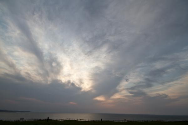 太陽は雲の中