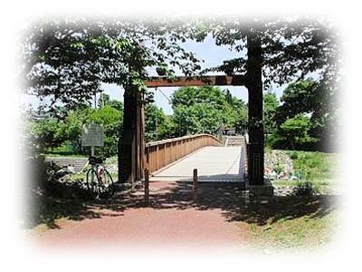 草花公園にて
