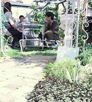 レンガのお庭で♪