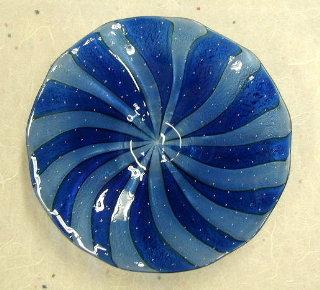 大皿ブルー