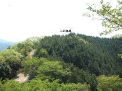 茶臼山城二の丸を望む