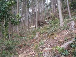 慈悲門寺西の砦跡