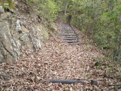 林野城登山道