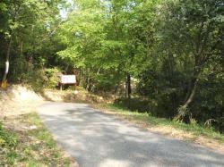 茶臼山城への道