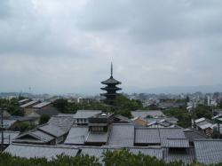 京都高台寺付近より西を望む