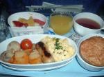 シンガポール航空ヨハネスブルグ-シンガポール機内食モーニング