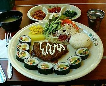 キムパプ天国のスペシャル定食