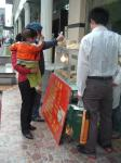路上で売ってた葱餅と豆沙餅