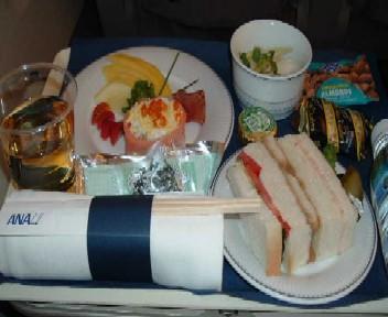 ANA機内食羽田行きビジネス