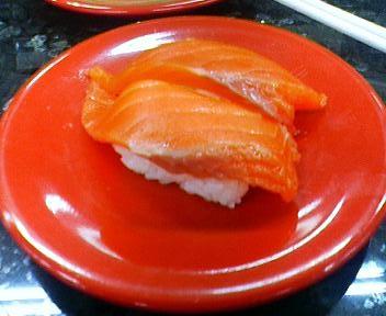 回転寿司海天丸のサーモン