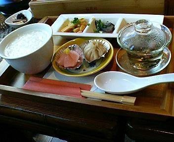 茶藝館如意庭のお粥セット