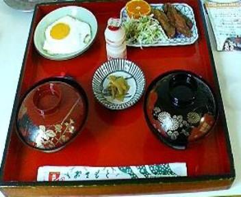 サンキョウビジネスホテルの月曜日の朝食