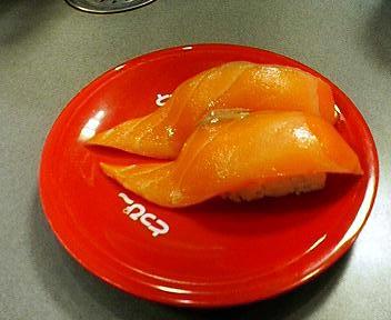 札幌回転寿司とっぴーのサーモン