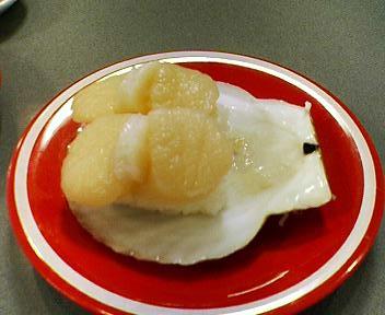 札幌回転寿司とっぴーのホタテ