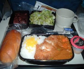 UA成田発シンガポール行き機内食