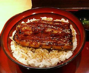 上野松坂屋の銀座鳴門でうな丼