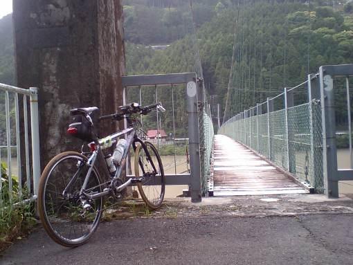 2011/5/14秋葉ダムつり橋前