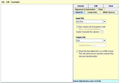 SQL文を貼り付ければ自動でフォーマットしてくれるツール