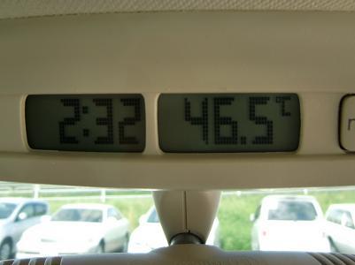気温46.5℃