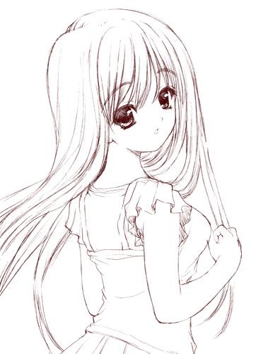 振り返り少女01