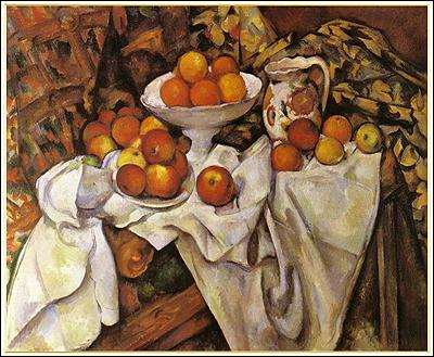 セザンヌ:りんごとオレンジ