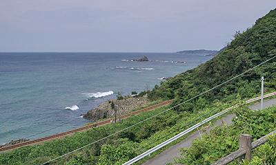 説明:JR山陰本線:三保三隅駅←→折居駅 間
