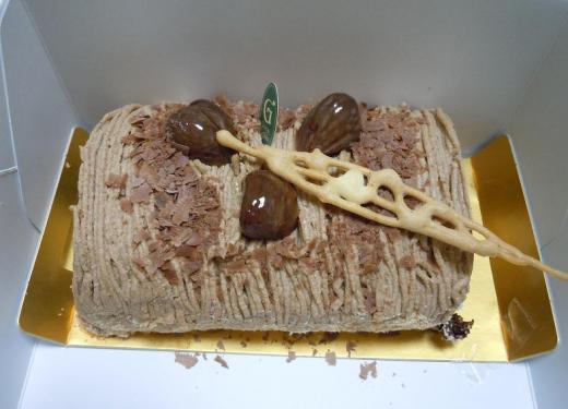 2012.01.25 栗のロールケーキ